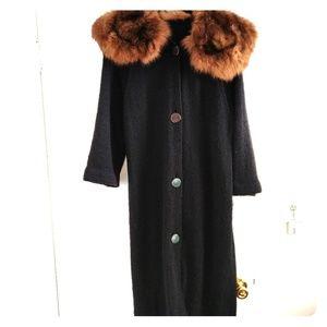 Jackets & Blazers - Vintage Fur Sweater Coat